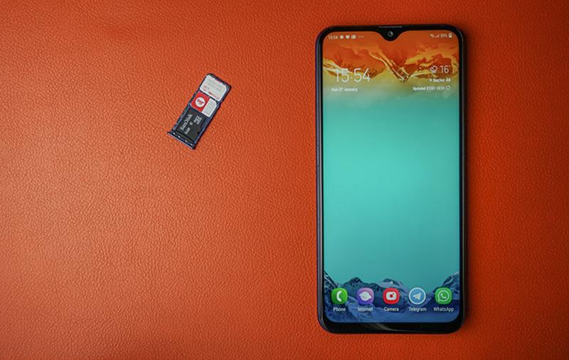 Khay sim và thẻ nhớ ngoài điện thoại Samsung Galaxy M20 chính hãng