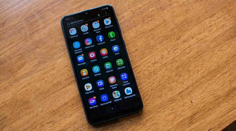 Menu ứng dụng điện thoại Samsung Galaxy M10 chính hãng