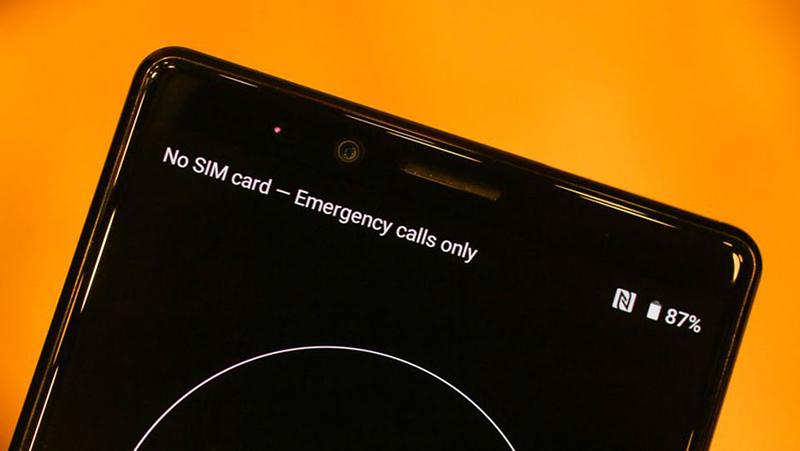 Camera trước selfie của điện thoại Sony Xperia 1 chính hãng
