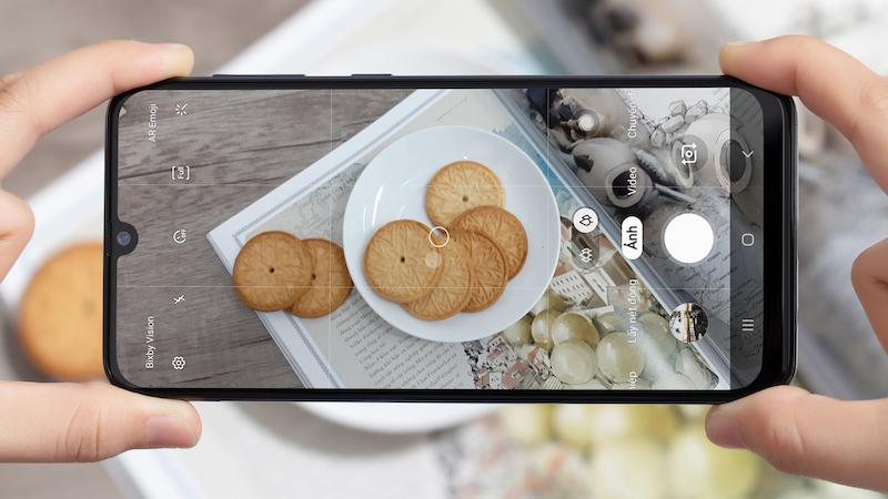 Điện thoại Samsung Galaxy A50 chính hãng | Giao diện chụp ảnh
