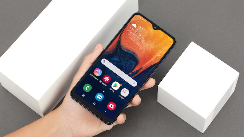 Mở khoá khuôn mặt trên điện thoại Samsung Galaxy A10