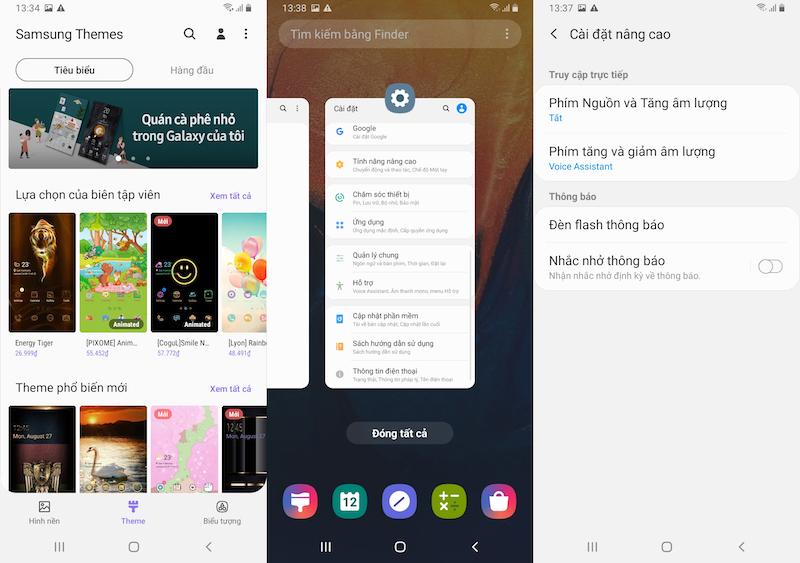 Giao diện tính năng điện thoại Samsung Galaxy A10