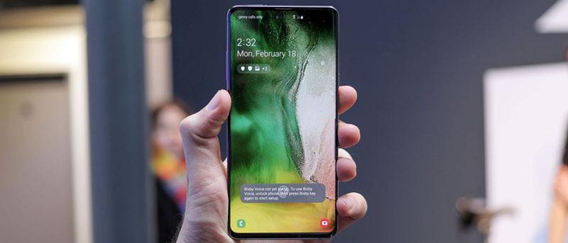 Màn hình của điện thoại Samsung Galaxy S10 5G chính hãng