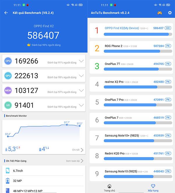 Oppo Find X2 | Hiệu năng hàng đầu