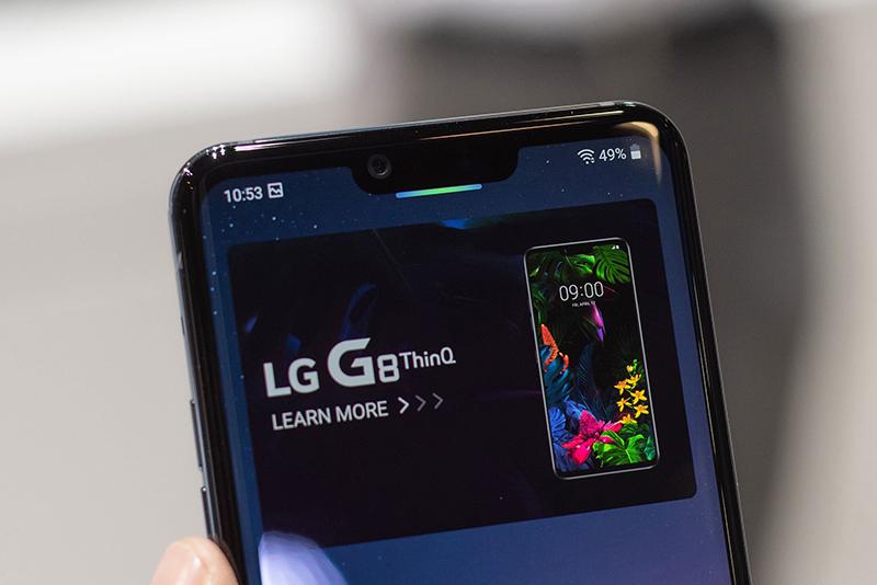 Camera trước selfie của điện thoại LG G8 ThinQ chính hãng