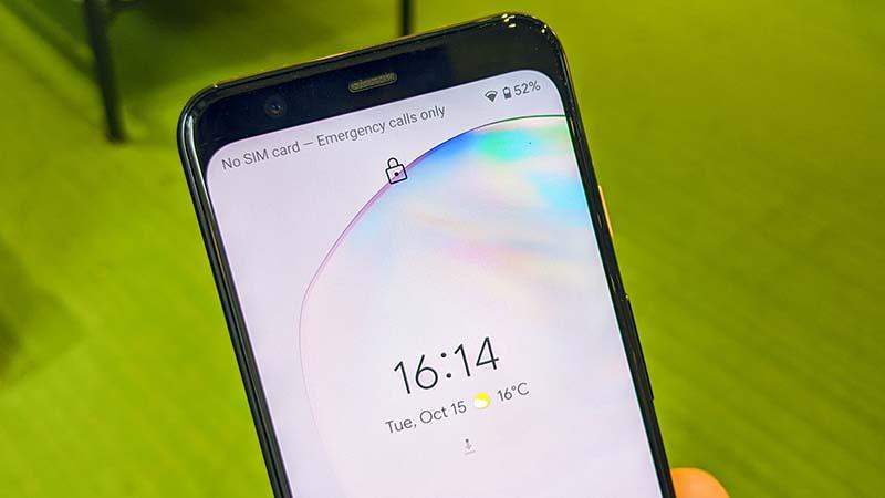 Điện thoại Google Pixel 4 XL | Tính năng mở khóa khuôn mặt