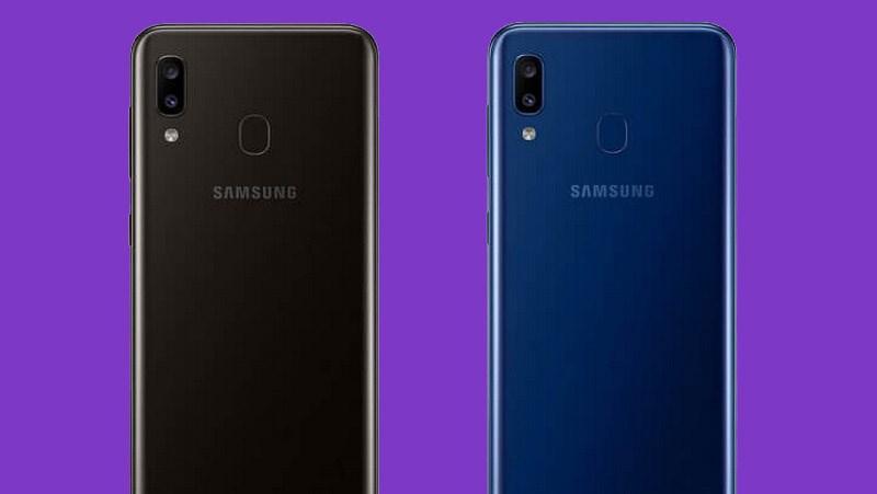 Thiết kế của điện thoại Samsung Galaxy A20 chính hãng