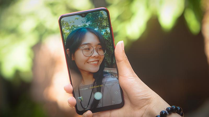 Selfie trên điện thoại Vivo Y91C chính hãng