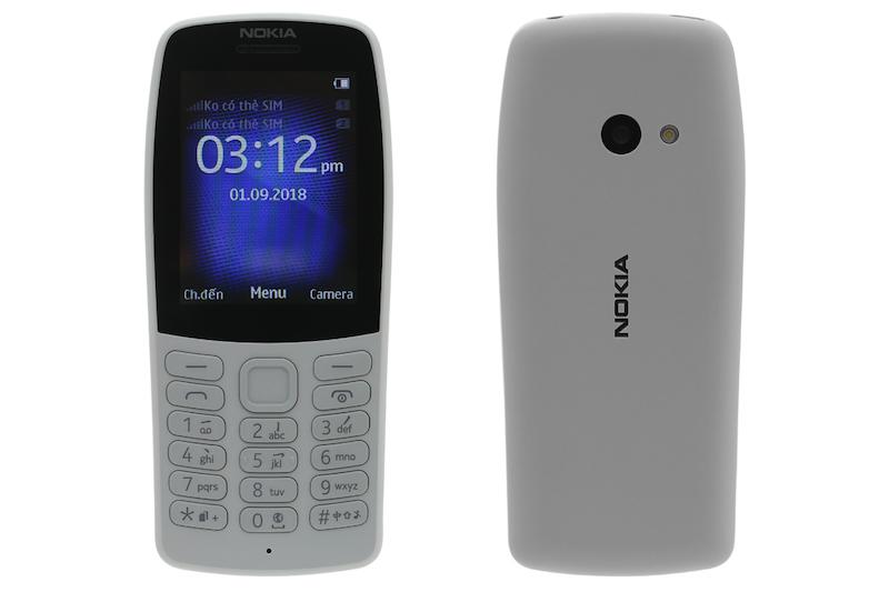 Giao diện điện thoại Nokia 210 chính hãng