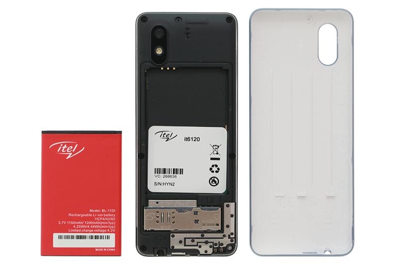 Khe sim và pin điện thoại Itel it6120 chính hãng