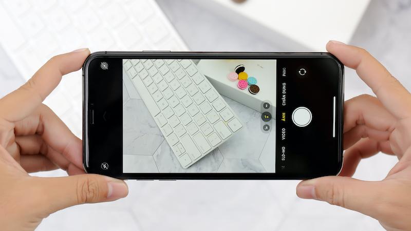 Điện thoại iPhone 11 Pro Max 64GB | Giao diện chụp ảnh camera