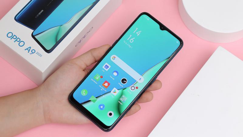 Điện thoại smartphone OPPO A9 2020 | Màn hình giọt nước nhỏ gọn