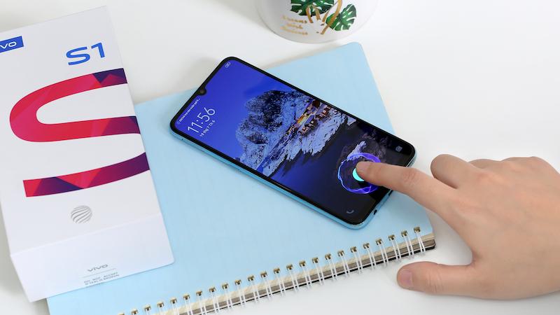Điện thoại smartphone Vivo S1 | Cảm biến vân tay trên màn hình