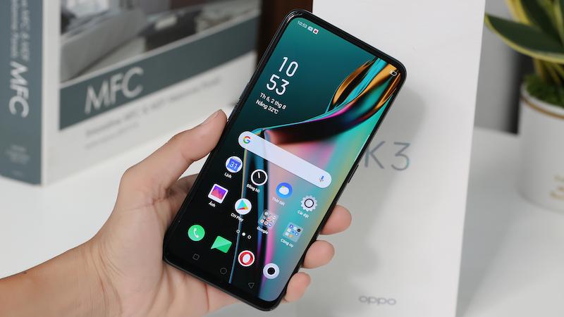 Điện thoại smartphone OPPO K3 | Thiết kế siêu tràn viền