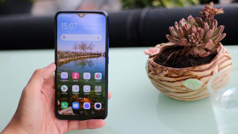 Tính năng mở khoá bằng khuôn mặt của điện thoại Vivo Y12 chính hãng