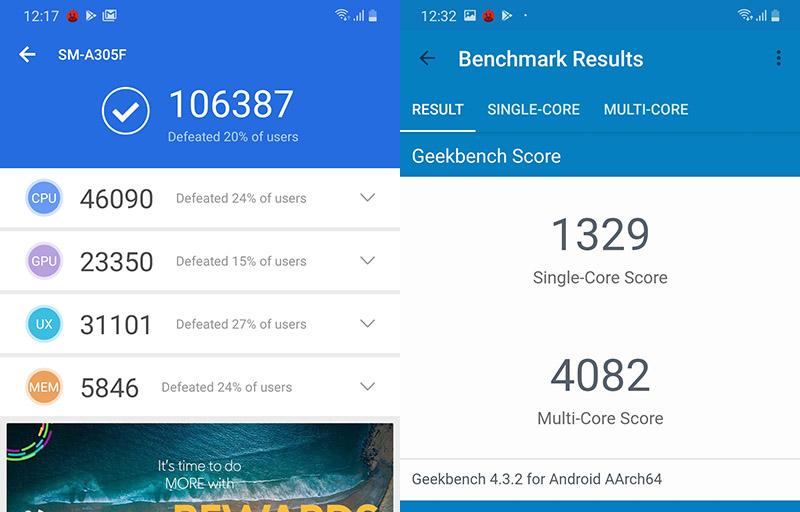Điện thoại Samsung Galaxy A30s | Điểm Antutu Benchmark