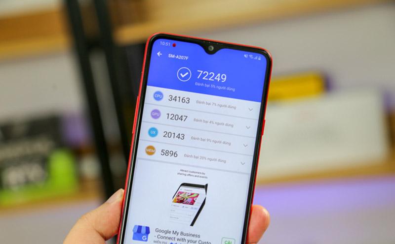 Điện thoại Samsung Galaxy A20s 64GB | Điểm hiệu năng Antutu Benchmark