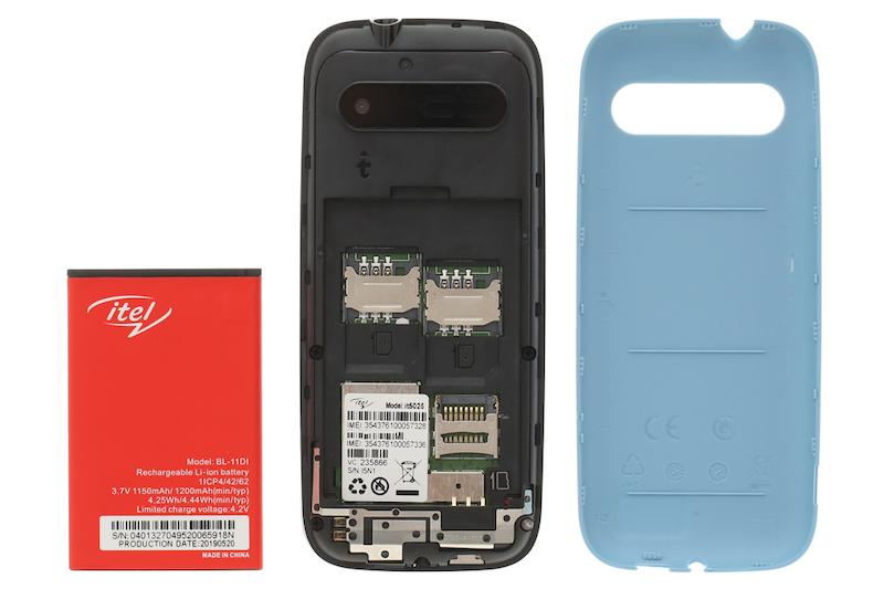 Điện thoại phổ thông Itel it5025 | Khe SIM trên máy