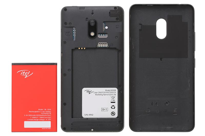 Điện thoại Itel Alpha Lite | Thiết kế pin rời thuận tiện