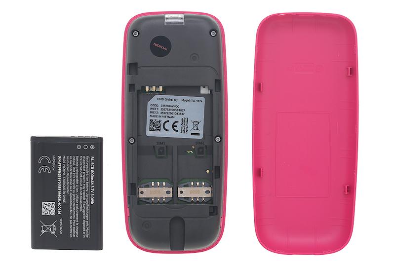 Điện thoại cơ bản nghe gọi Nokia 105 2019 | Pin và khe sim máy