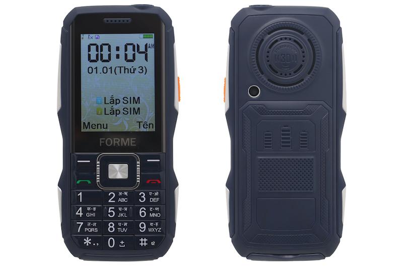 Điện thoại pin trâu Forme F3 | Tổng quan thiết kế
