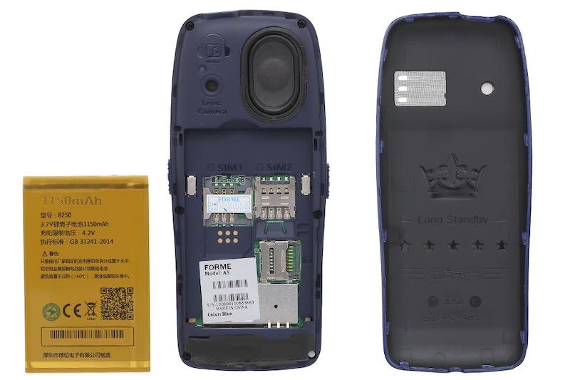 Điện thoại cơ bản nghe gọi Forme A5 | Khe sim thẻ nhớ