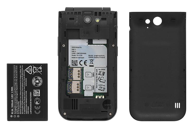 Điện thoại nắp gập Nokia 2720 Flip 2019 | Hỗ trợ 2 sim