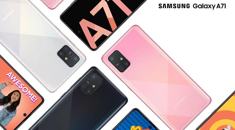 Galaxy A71 sở hữu màn hình tràn viền