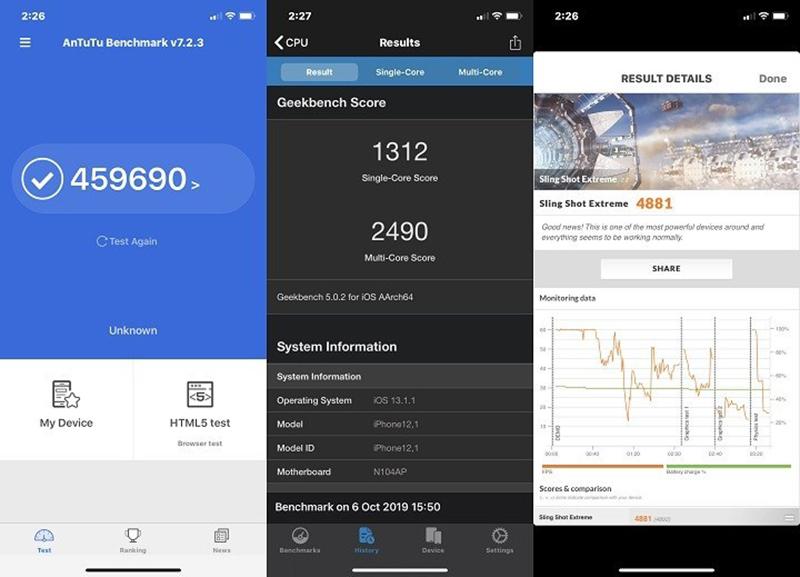Điện thoại iPhone 11 128GB | Điểm hiệu năng Antutu Benchmark