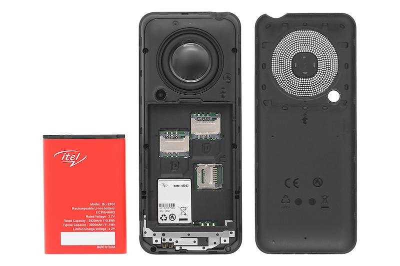 Điện thoại cơ bản Itel it5092   Cấu tạo pin rời phía sau