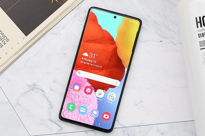 Điện thoại Samsung Galaxy A51 màn hình siêu tràn viền
