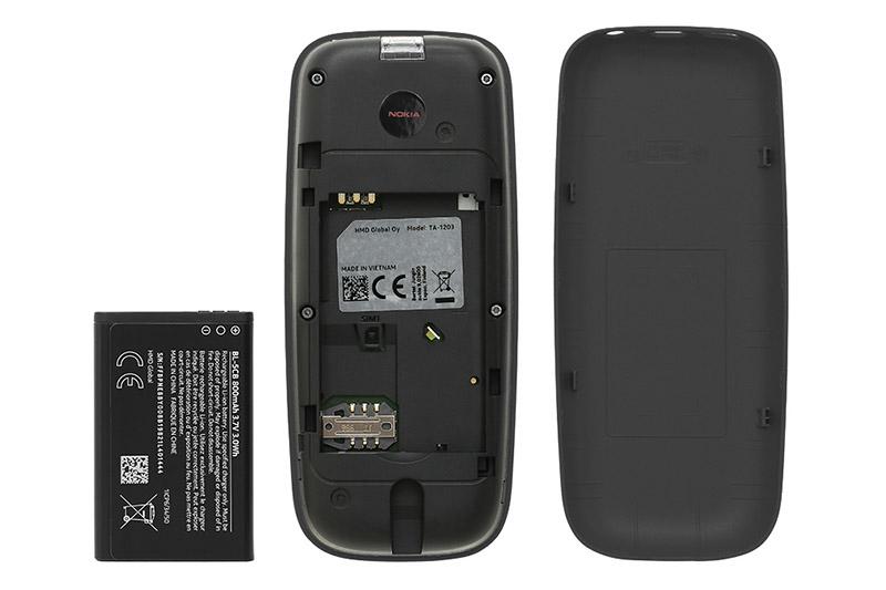 Điện thoại Nokia 105 Single SIM (2019) | Viên Pin rời thời gian chờ lâu