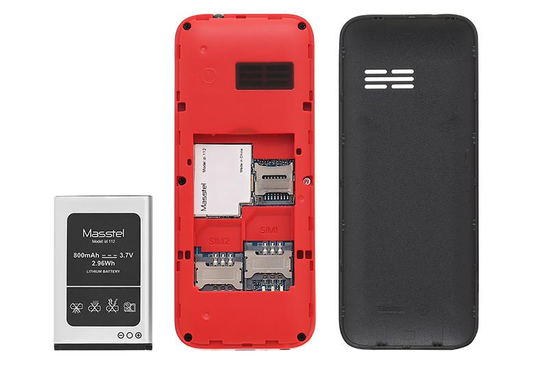 Điện thoại Masstel IZI 112 | Thiết kế pin rời với thời gian chờ lâu