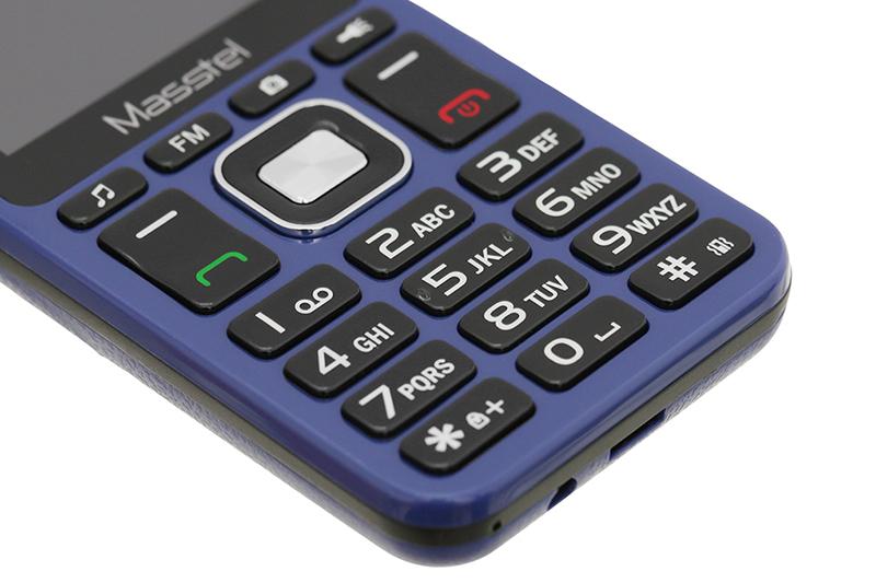 Điện thoại Masstel IZI 206 | Bàn phím T9 thuận tiện