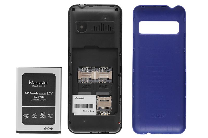 Điện thoại Masstel IZI 206 | Thời lượng pin lớn, có thể tháo rời