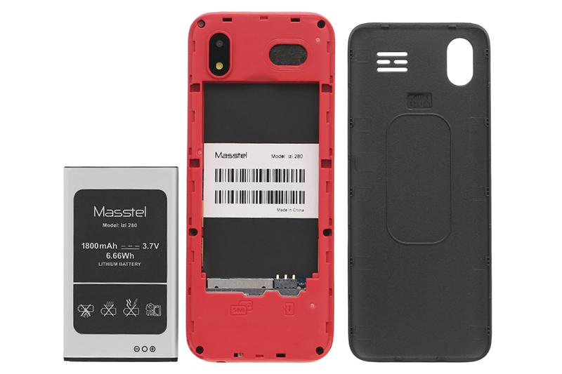 Điện thoại Masstel IZI 280 | Thiết kế pin rời tiện dụng