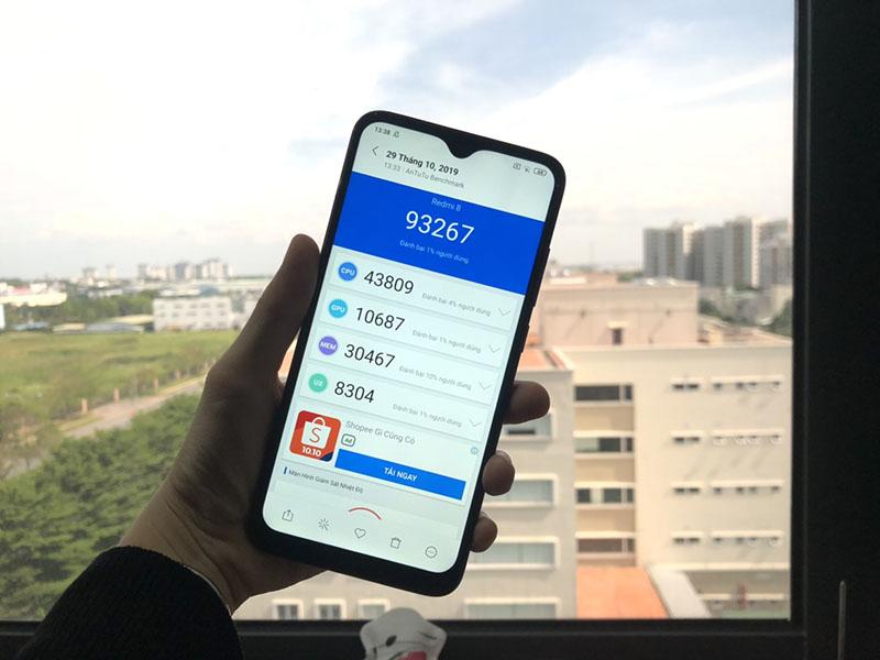Xiaomi Redmi 8 64GB | Điểm hiệu năng Antutu Benchmark