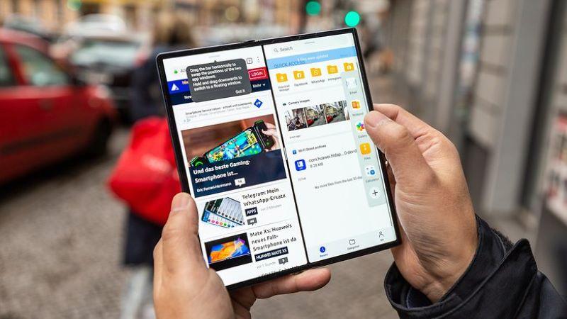 Chạy đa nhiệm 2 ứng dụng mượt mà trên Huawei Mate Xs