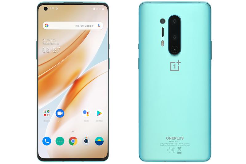 Điện thoại Oneplus 8 Pro | Thiết kế mặt trước và mặt sau