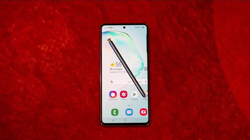 Điện thoại Samsung Galaxy Note 10 Lite | Thiết kế