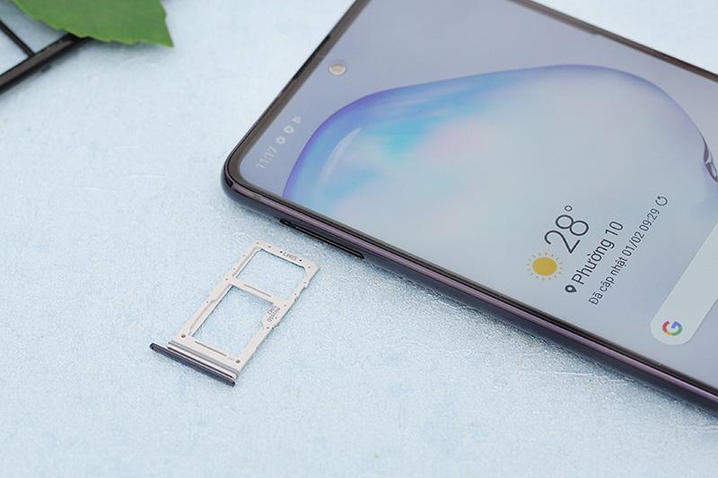 Điện thoại Samsung Galaxy Note 10 Lite | Khay sim