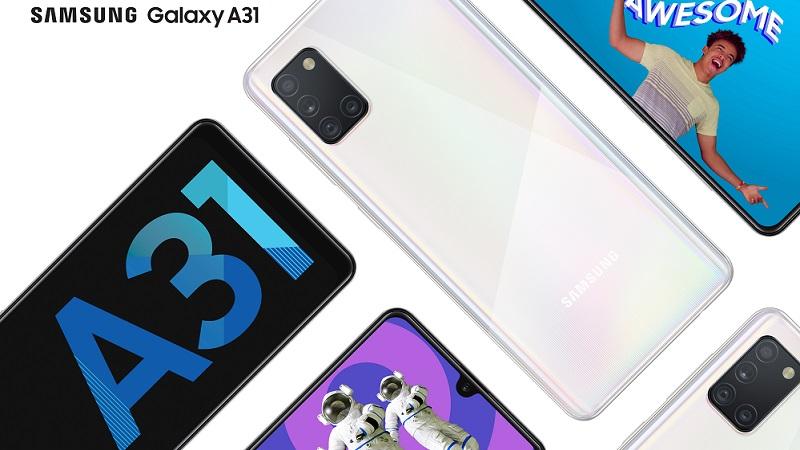 Tổng thể điện thoại Samsung Galaxy A31