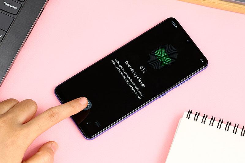 Vị trí đặt cảm biến vân tay trên điện thoại Samsung Galaxy A31