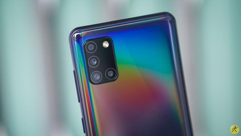 Cụm camera sau trên điện thoại Samsung Galaxy A31