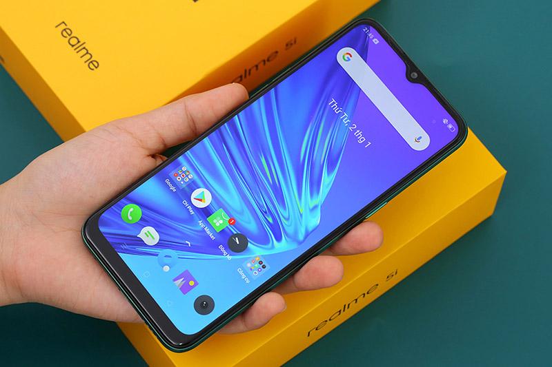 Điện thoại Realme 5i | Giao diện màn hình chính
