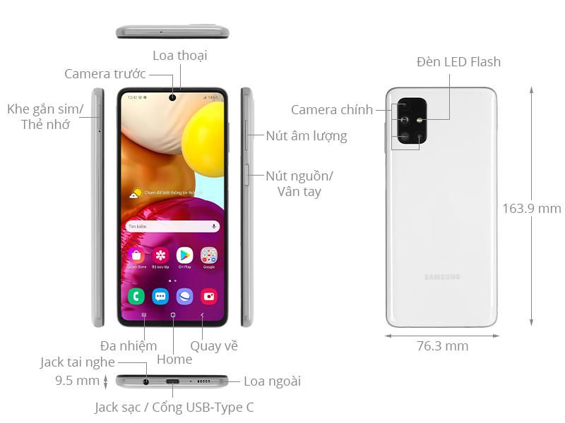 Điện thoại Samsung Galaxy M51