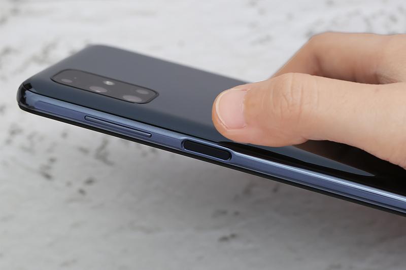 Tích hợp bảo mật vân tay cạnh viền | Samsung Galaxy M51