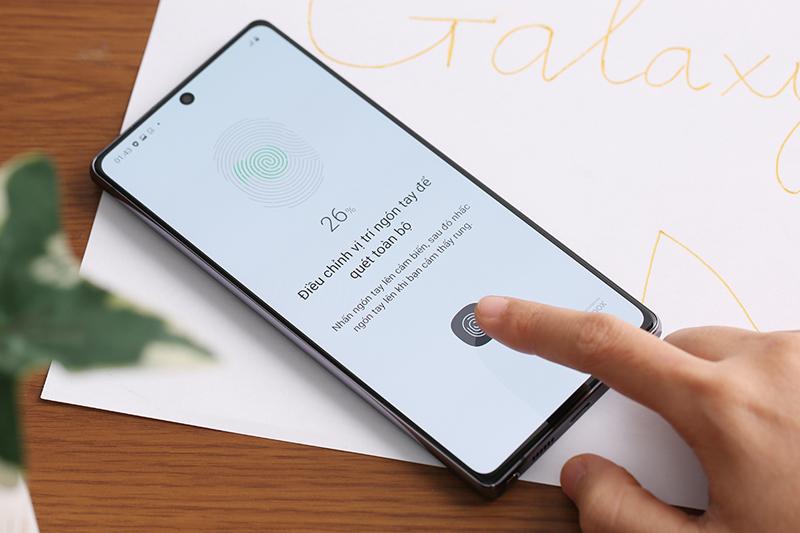 Cài đặt bảo mật vân tay - Samsung Galaxy Note 20