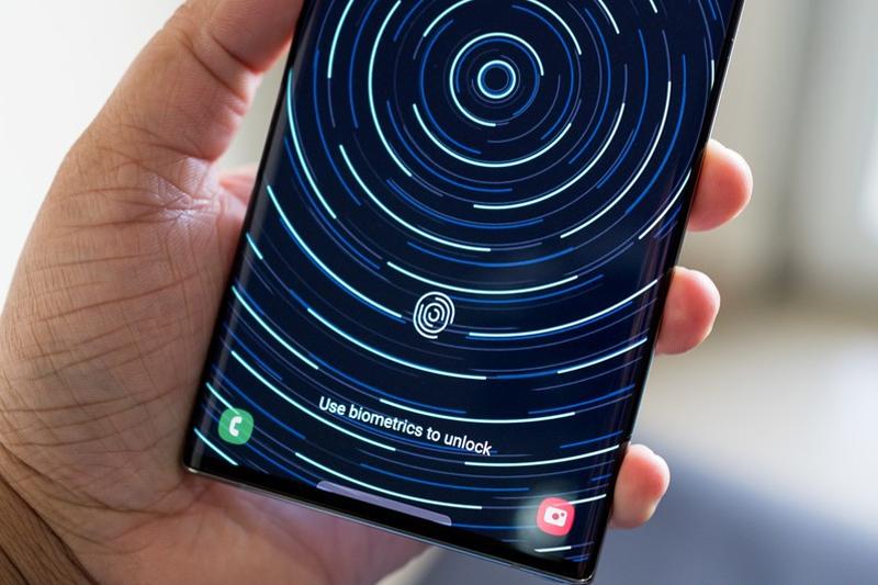 Sở hữu vân tay quang học cao cấp - Samsung Galaxy Note 20
