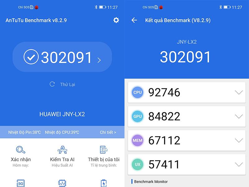 Điện thoại Huawei Nova 7i | Điểm hiệu năng Antutu